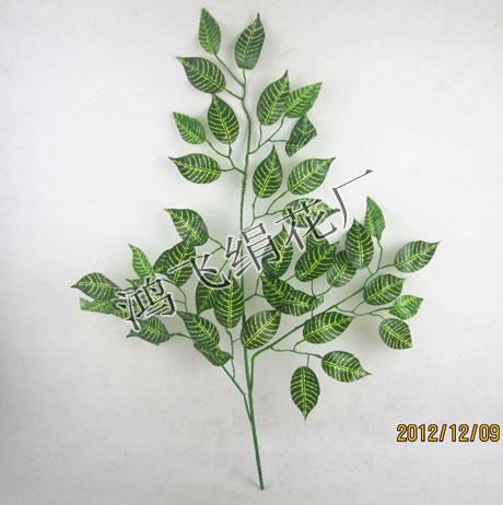 >> 仿真斑马叶枝,仿真榕树枝,仿真树枝,仿真叶子,仿真植物,绢花,仿真